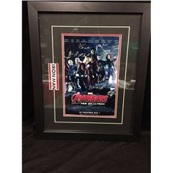 FRAMED AVENGERS MOSTER DISPLAY 14 X 16