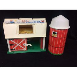 VINTAGE FISHER PRICE ANIMAL FARM TOYS