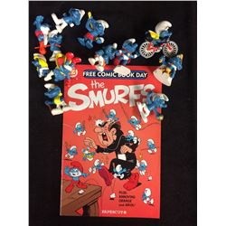 VINTAGE SMURFS FIGURES AND COMIC