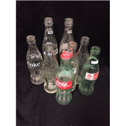 VINTAGE COCA COLA BOTTLES LOT