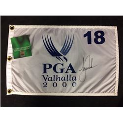 TIGER WOODS SIGNED PGA VALHALLA 2000 FLAG W COA