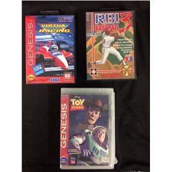 IN BOX SEGA GENESIS GAME LOT ( SOME COMPLETE)