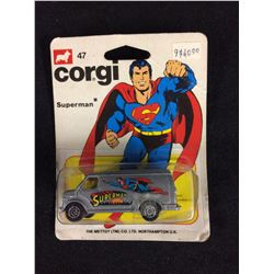 VINTAGE CORGI SUPERMAN ON CARD