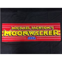 VINTAGE ARCADE BACK GLASS MICHEAL JACKSONS MOONWALKER