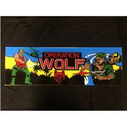 VINTAGE ARCADE BACK GLASS OPERATION WOLF
