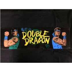 VINTAGE ARCADE BACK GLASS DOUBLE DRAGON
