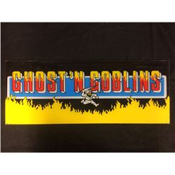 VINTAGE ARCADE BACK GLASS GHOST N GOBLINS