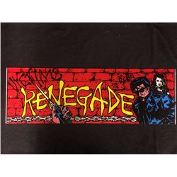 VINTAGE ARCADE BACK GLASS RENEGADE