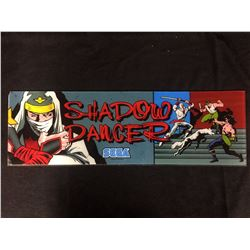 VINTAGE ARCADE BACK GLASS SHADOW DANCER
