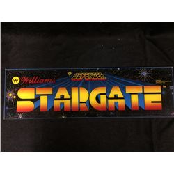 VINTAGE ARCADE BACK GLASS STARGATE