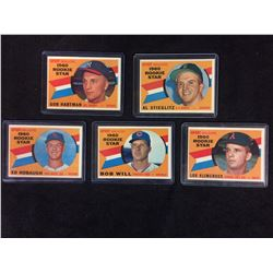 1960 TOPPS ROOKIE CARD LOT HIGH GRADE