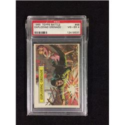 1965 TOPPS BATTLE EXPLODING GRENADE PSA GRADED