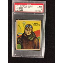 1934 NATIONAL CHICLE LT JAMES DOOLITTLE PSA GRADED