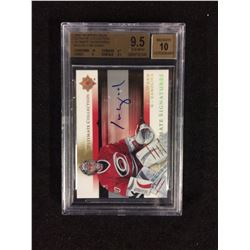 2005 UPPER DECK ULTIMATE COLLECTION CAM WARD AUTO BECKETT 9.5