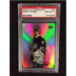 2005 UPPER DECK MCDONALDS SIDNEY CROSBY PSA 10