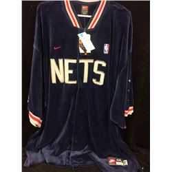 NEW WITH TAGS NEW JERSEY NETS WARM UP JERSEY