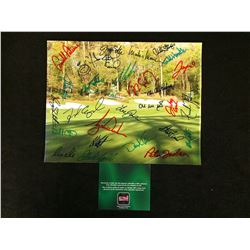 8 X 10 MASTERS PHOTO SIGNED BY 30 WITH COA ( TIGER WOODS, ARNOLD PALMER JOHN DALY MIKE WEIR AND MORE