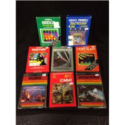 ATARI VIDEO GAME LOT IN BOX