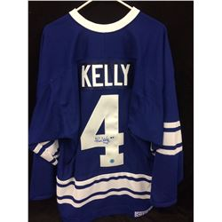 AUTOGRAPHED RED KELLEY tORONTO MAPLE LEAFS HOCKEY JERSEY WITH COA