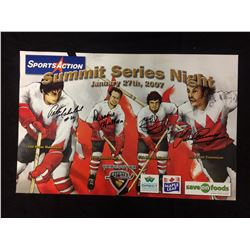 QUAD SIGNED 16 X 20 VANCOUVER GIANTS CHARITY SIGNING