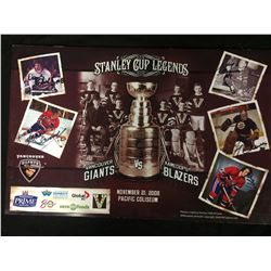 VANCOUVER GIANTS CAHRITY AUCTION PIECE SIGNED BY 5 W COA