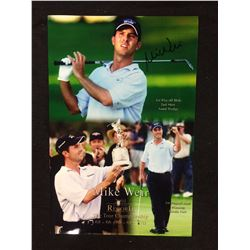 MIKE WEIR SIGNED TOUR CHAMPIONSHIP 10 X 14