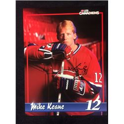MIKE KEANE SIGNED 8 X 10 MONTREAL CANADIANS