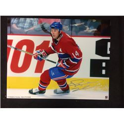 TREVOR LINDEN SIGNED 16 X 20 MONTREAL CANADIANS PHOTO