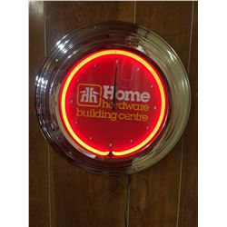 NEW IN BOX HOME HARDWARE NEON CLOCK