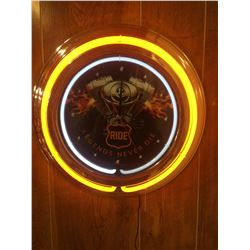 NEW IN BOX RIDE DUAL NEON CLOCK