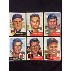 1953 TOPPS BASEBALL CARD LOT