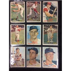 1957 TOPPS BASEBALL CARD LOT