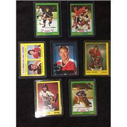 VINTAGE 1970'S HOCKEY STAR CARD LOT WITH SIGNED JARI KURRI