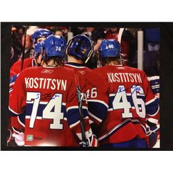16 X 20 DUAL SIGNED KOSTITSYN MONTREAL CANADIANS  PHOTO