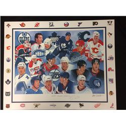 NHL CANADIAN GREATS PRINT SIGNED BY TREVOR LINDEN