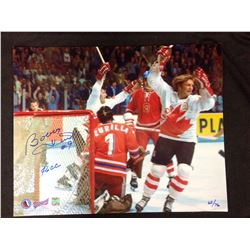 AUTOGRAPHED BOBBY HULL TEAM CANADA 16 X 20 WITH COA LIMITED