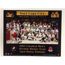 16 X 24 2002 TEAM CANADA OLYMPIC TEAM POSTER SIGNED BY 4