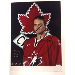 2002 OLYMPIC TEAM CANADA 6 X 8 SIGNED PHOTO CURTIS JOSEPH