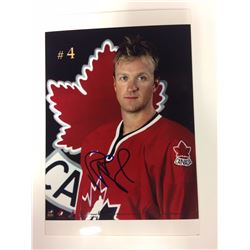 2002 OLYMPIC TEAM CANADA 6 X 8 SIGNED PHOTO ROB BLAKE