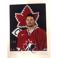 2002 OLYMPIC TEAM CANADA 6 X 8 SIGNED PHOTO OWEN NOLAN