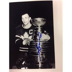 TED KENNEDY SIGNED STANLEY CUP 6 X 8