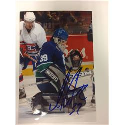 DAN CLOUTIER SIGNED VANCOUVER CANUCKS 6 X 8