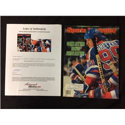 WAYNE GRETZKY SIGNED SPORTS ILLUSTRATED MAGAZINE WITH COA