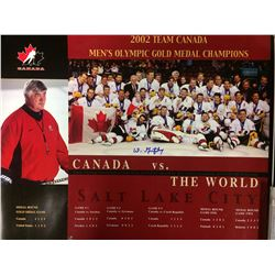2002 TEAM CANADA 20 X 30 PHOTO SIGNED BY WLTER GRETZKY