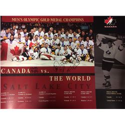 CANADA VS THE WORLD 20 X 24 PHOTO SIGNED BY 4
