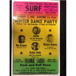 FEBRUARY 2, 1959 WINTER DANCE PARTY CONCERT POSTER (BIG BOPPER, BUDDY HOLLY)