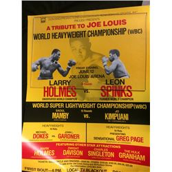 HOLMES VS SPINKS CLASSIC BOXING POSTER (TRIBUTE TO JOE LOUIS)