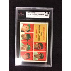 1961 TOPPS #48 A.L PITCHING LEADERS (7.5 NM+) KSA
