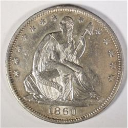 1860-O SEATED LIBERTY HALF DOLLAR AU/BU