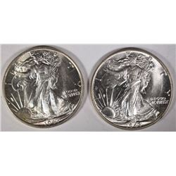 2 1943 WALKING LIBERTY HALVES CH/GEM BU
